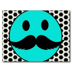 Supernormal Faces - retro_funny_smiley_face_with_mustache_stache_postcard-r018fad7a372e4bc19c1c6cae49cb6bf7_vgbaq_8byvr_512