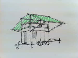 Will Cruickshank – Artist In Residence (2010-2014) - Will-roof-top-cafe-300x224