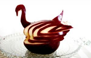 Apple Swan Carving Workshop - swan apple